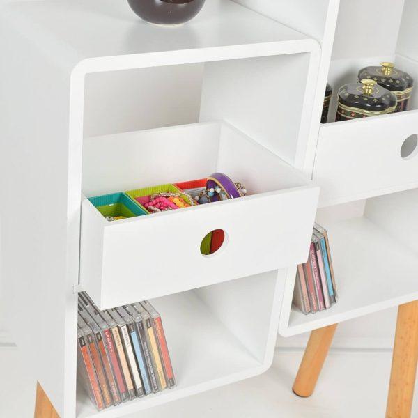 Lounge Regal mit offenen Schubladen