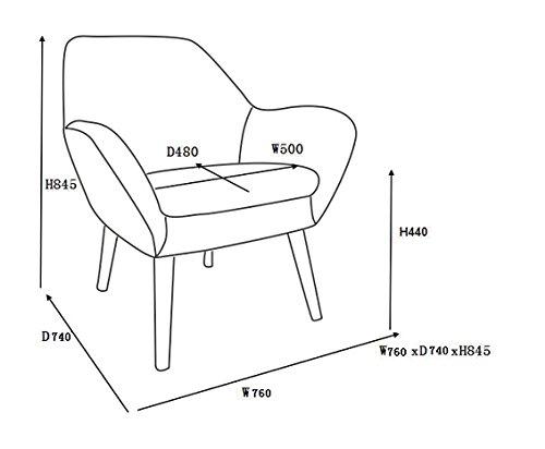 Loungestuhl Mid Century Maße