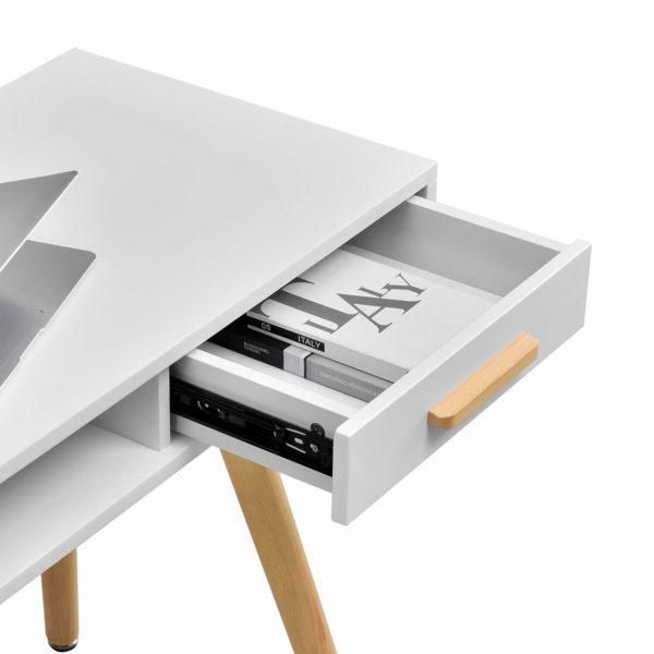 Schreibtisch Mid Century Schublade aufgeklappt