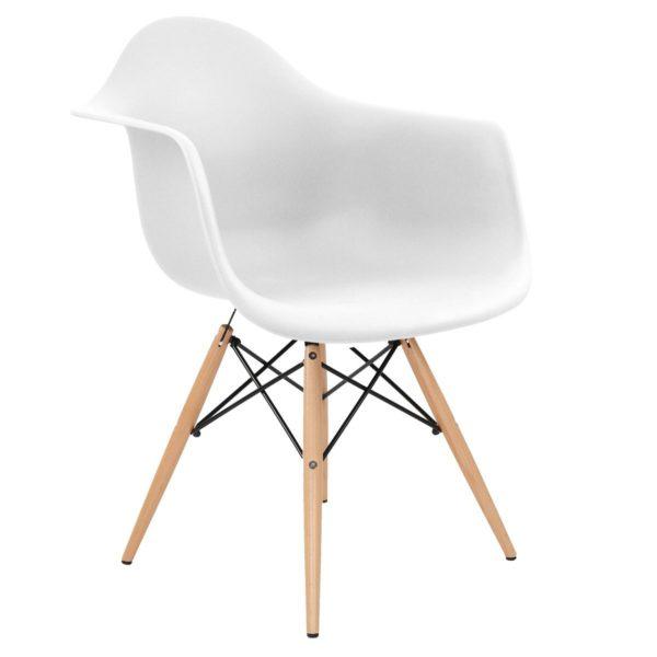 Stuhl Schale weiss Eames Design Mid Century