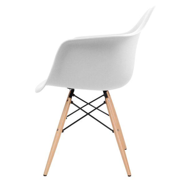 Stuhl Schale weiss Eames Design Mid Century seite