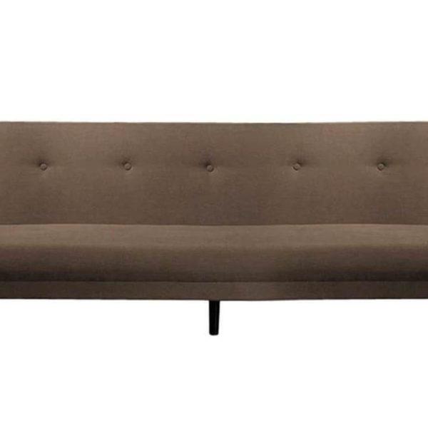 Braunes Retro-Sofa