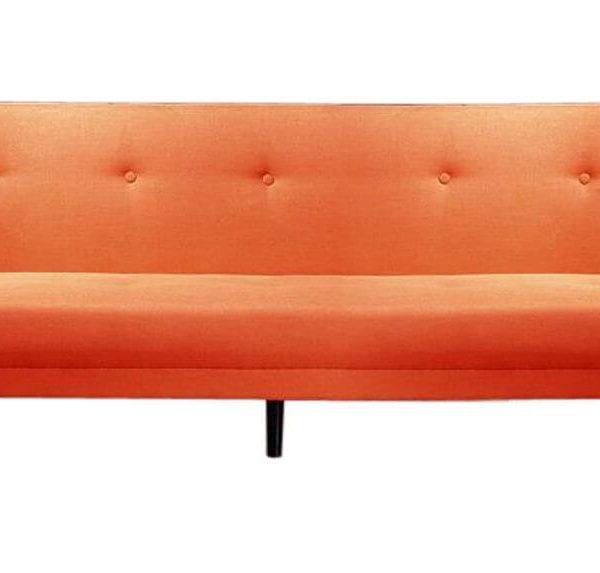 Rotes Retro-Sofa
