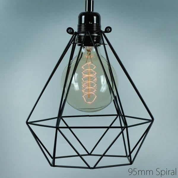Birne in außergewöhnlicher Lampe