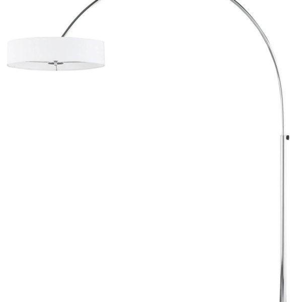 Weiße Mid Century Bogenlampe