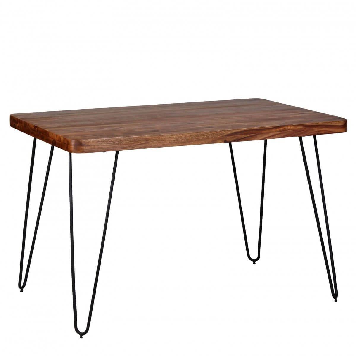 esstisch massivholz k chentisch wohnling mit metallbeinen. Black Bedroom Furniture Sets. Home Design Ideas