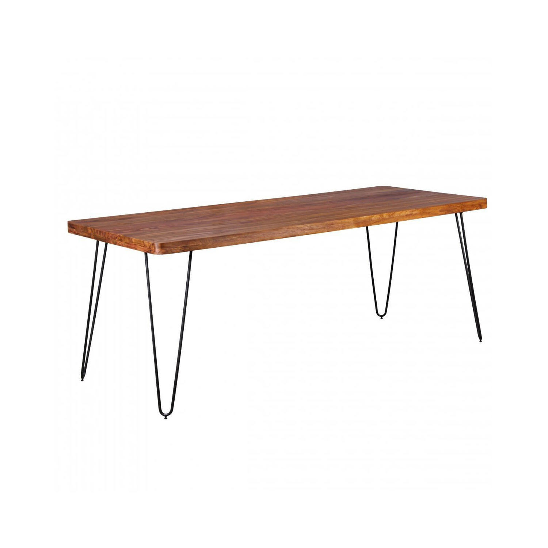 finebuy massivholz k chentisch im retro stil mit. Black Bedroom Furniture Sets. Home Design Ideas