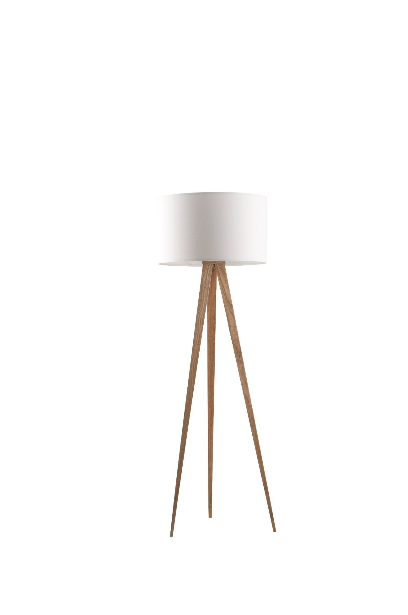 stehlampe zuiver tripod holz in wei mid century moebel. Black Bedroom Furniture Sets. Home Design Ideas
