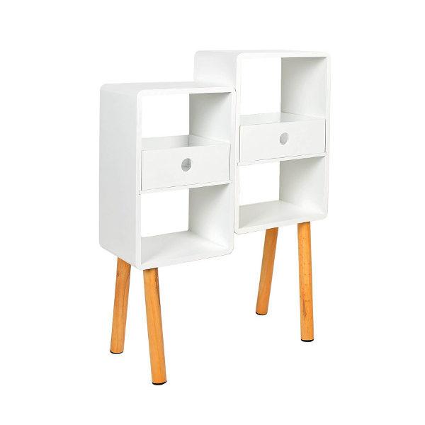2er Cube Regal in weiß