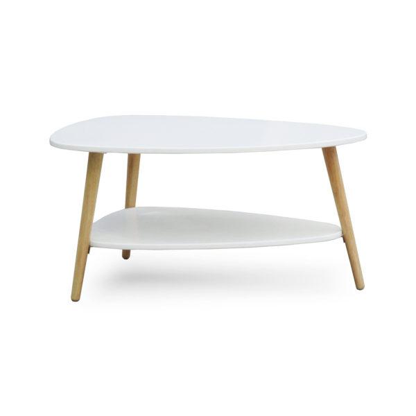 Weißer Couchtisch im Mid Century Modern Design