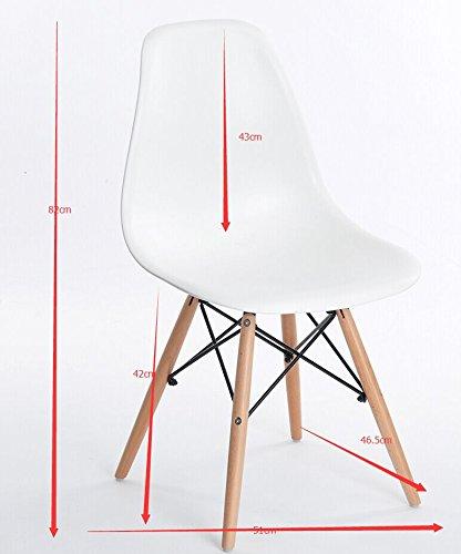 Maße des Esszimmerstuhls im Mid Century Modern Design