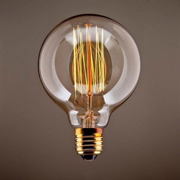 Glühbirne sichtbare Fäden